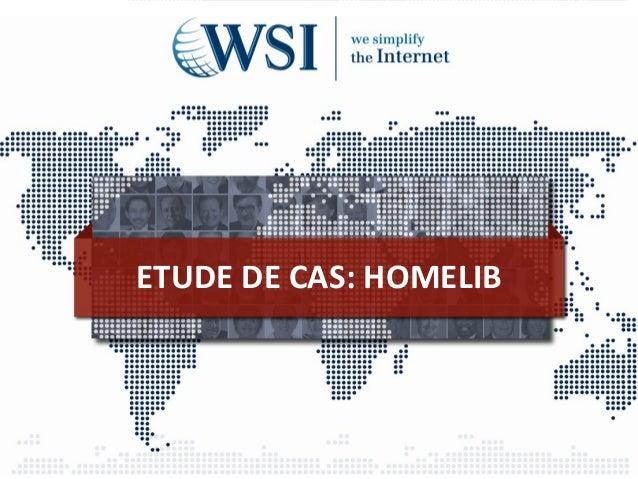 ETUDE DE CAS: HOMELIB
