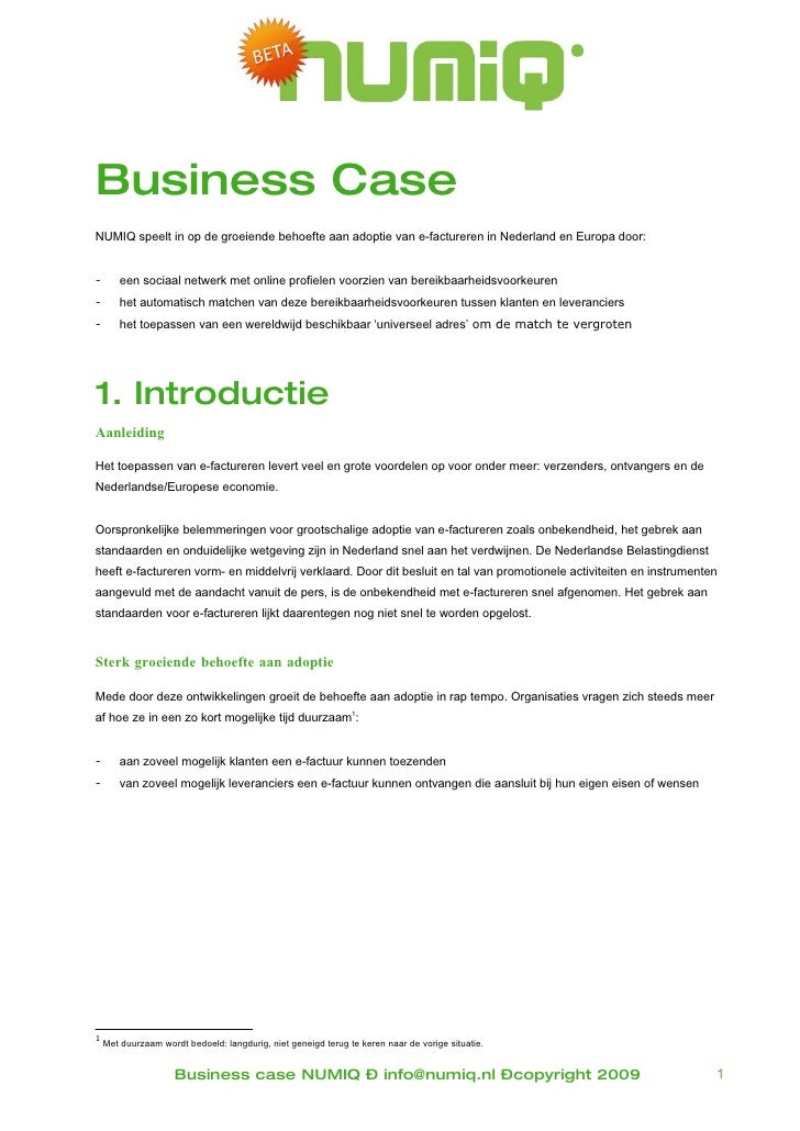 Business Case Numiq