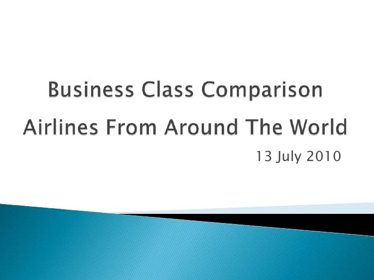 World Airlines Business Class Comparison