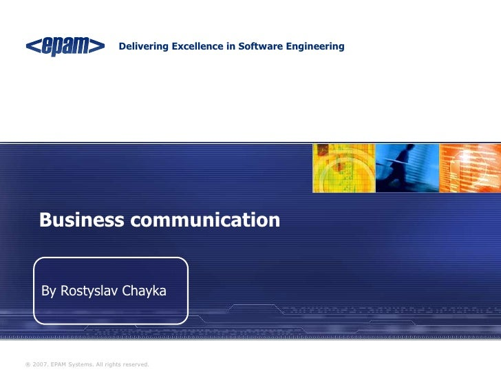 Rostyslav Chayka. Business communication