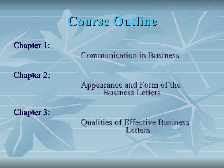 Business Communication Communication in Business