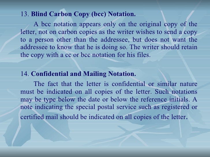 What do Carbon Copy and Blind Carbon Copy mean exactly?