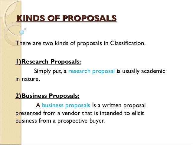 essay on business proposals