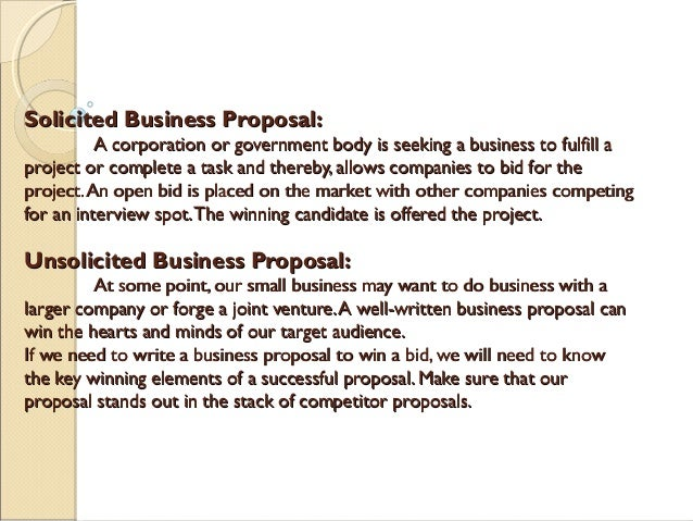 How to construct a business proposal