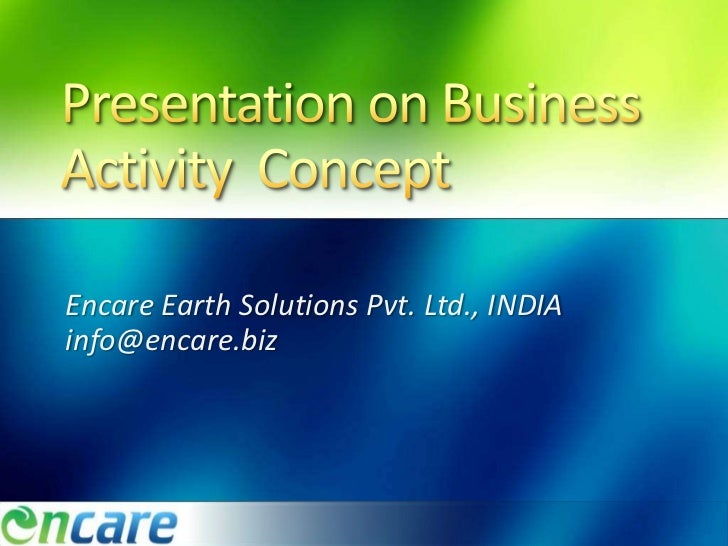 Encare Earth Solutions Pvt. Ltd., INDIAinfo@encare.biz
