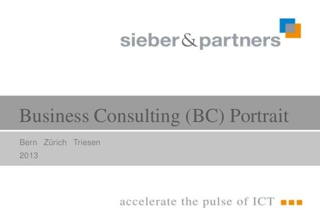 Business Consulting (BC) PortraitBern Zürich Triesen2013