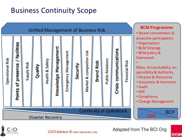 Scope of business continuity plan