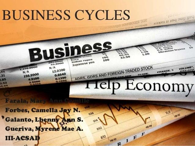 BUSINESS CYCLESFarala, Mary Ann CamilleForbes, Camella Joy N.Galanto, Lhenny Ann S.Gueriva, Myrene Mae A.III-ACSAD