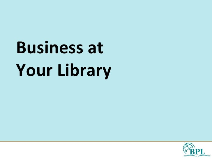 Business at Your Library