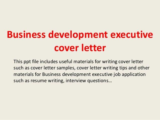 Business development consultant cover letter