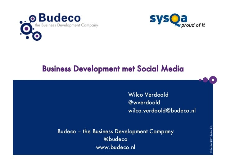Business development met social media sysqa