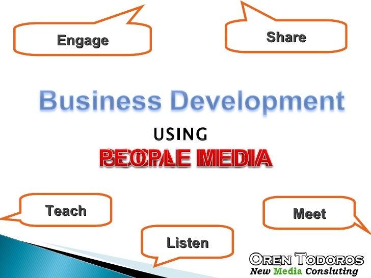 Business development using social media