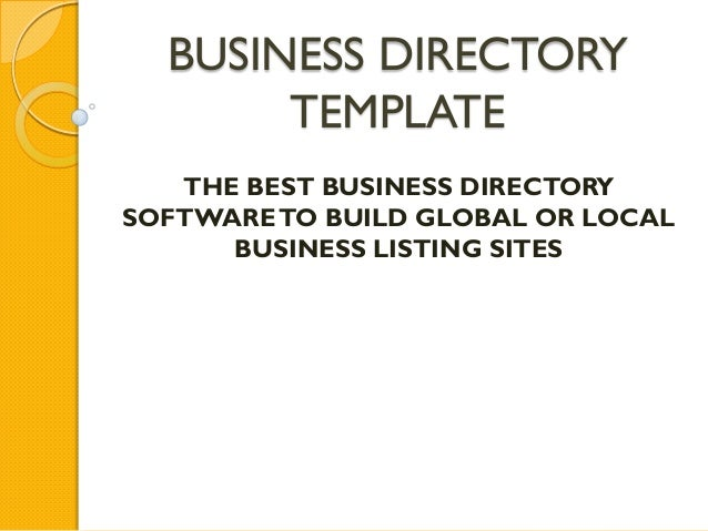 Business Directory Template with Exceptional Features