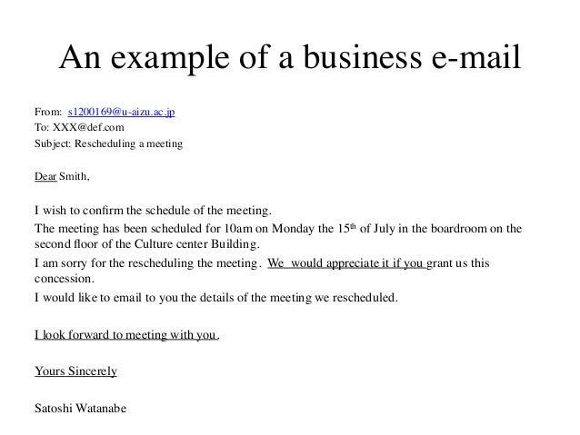 reschedule meeting email template - business e mai