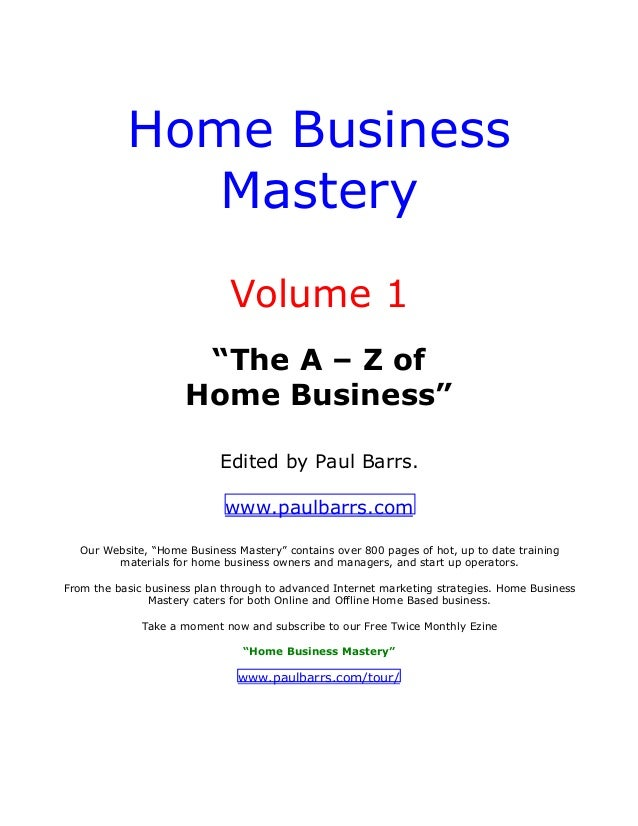 home business mastery vol