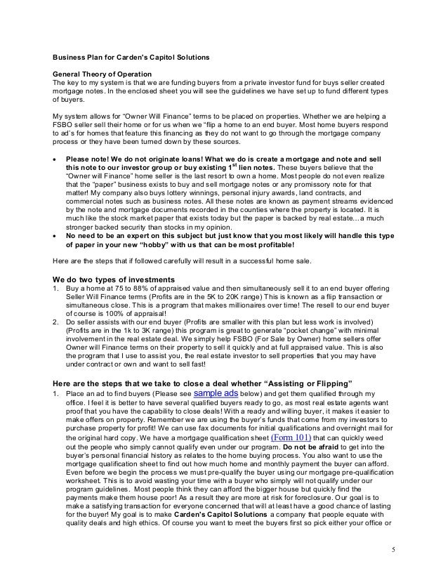 Housing estate development business plan | House list disign