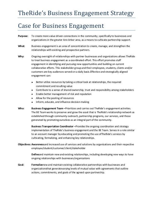 *SAMPLE* Public Transit - Business Engagement Strategy