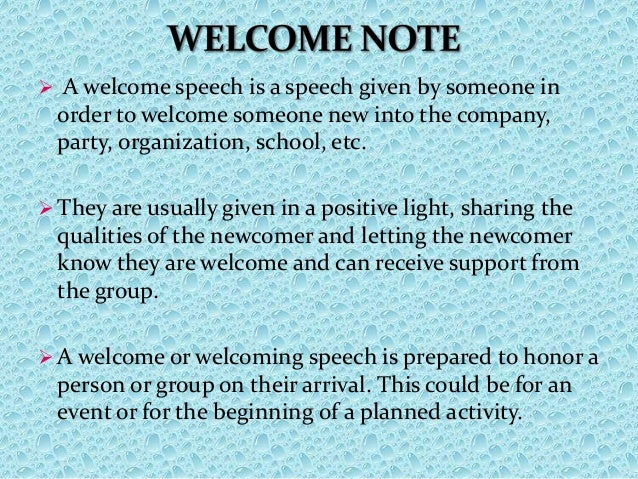 Welcome And Occasion Speech | just b.CAUSE