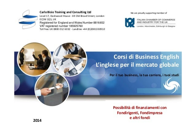 Business english corsi 2014
