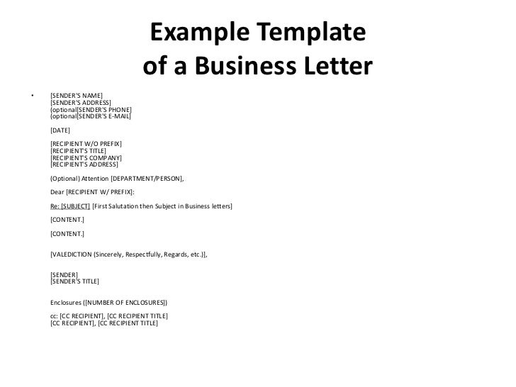 Dating business letters