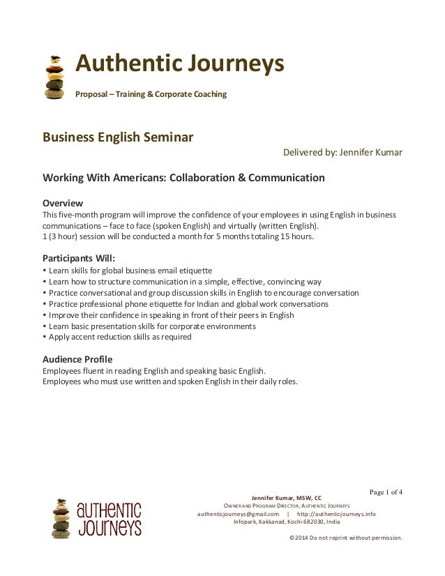 Business English Seminar - Kochi, India