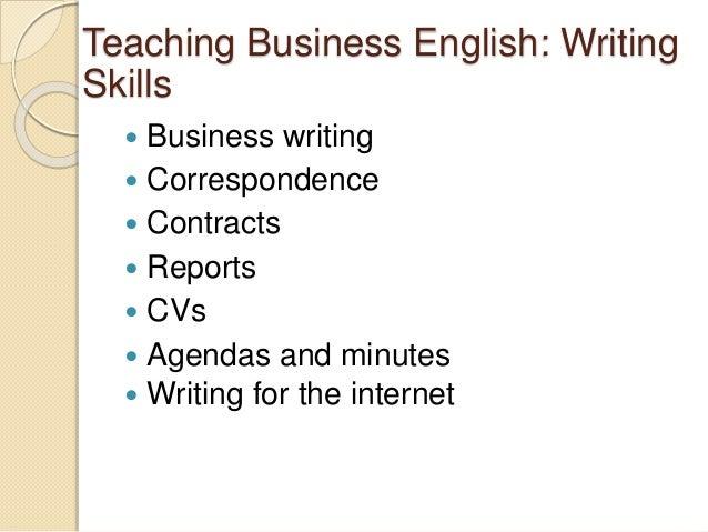 English writing skill