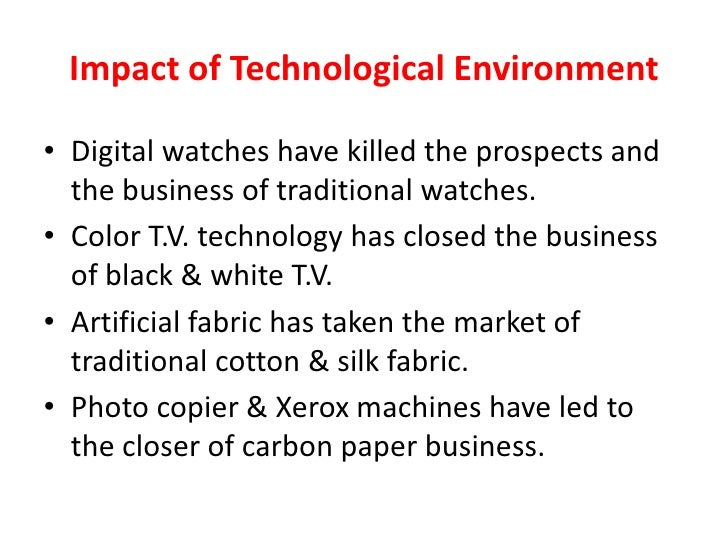 impact of technology on business environment pdf