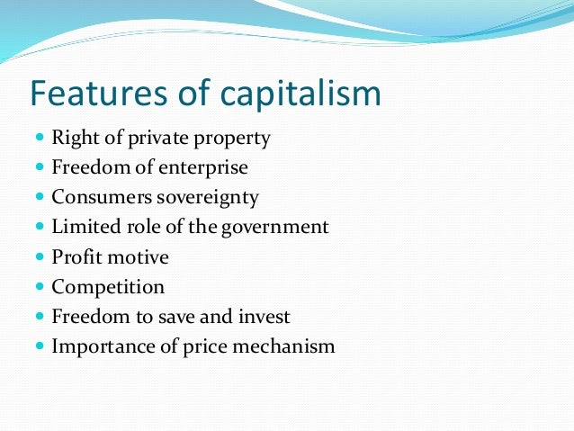 The Right To Private Property Capitalism