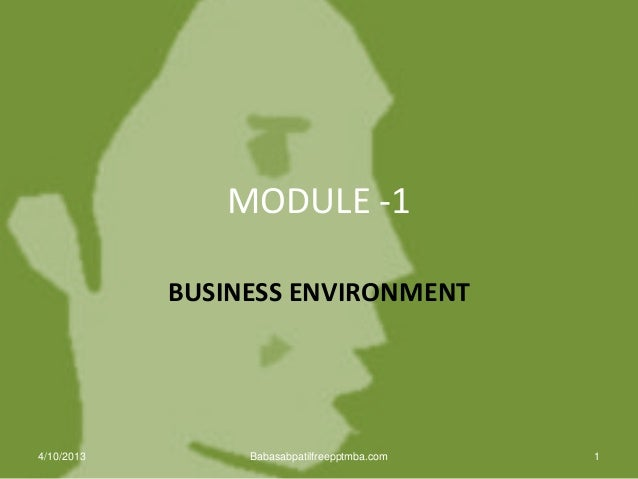 Business environment  PPT INTERNATIONAL BUSINESS MANAGEMENT MBA
