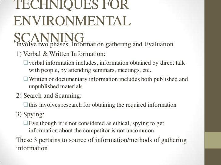 environmental scan template - business environmental scanning ppt