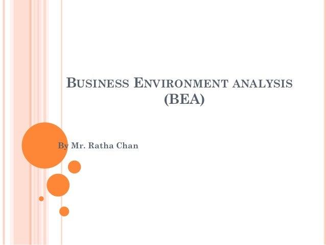 Environmental business analysis