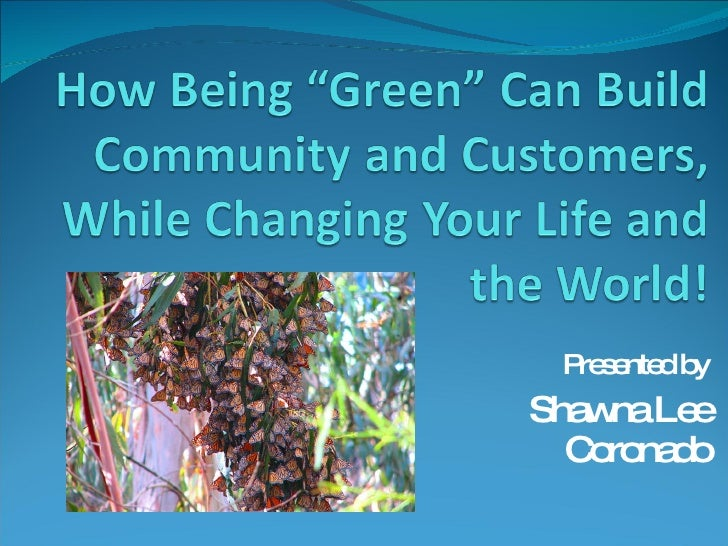 Businesses Building A Green Community