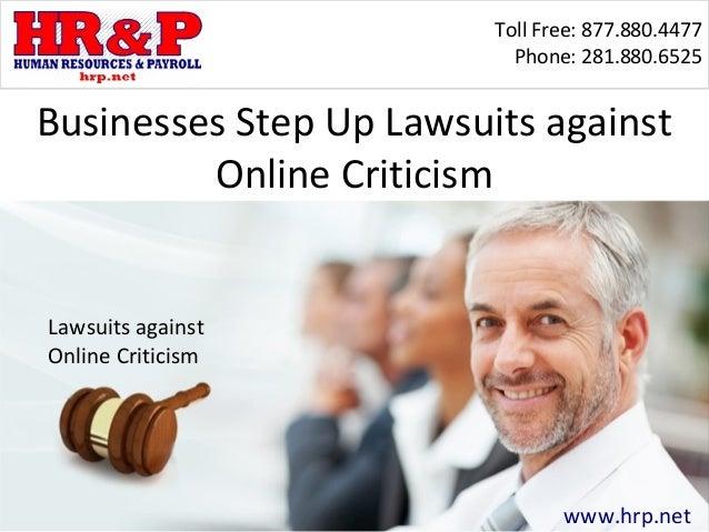 Businesses Step Up Lawsuits against Online Criticism