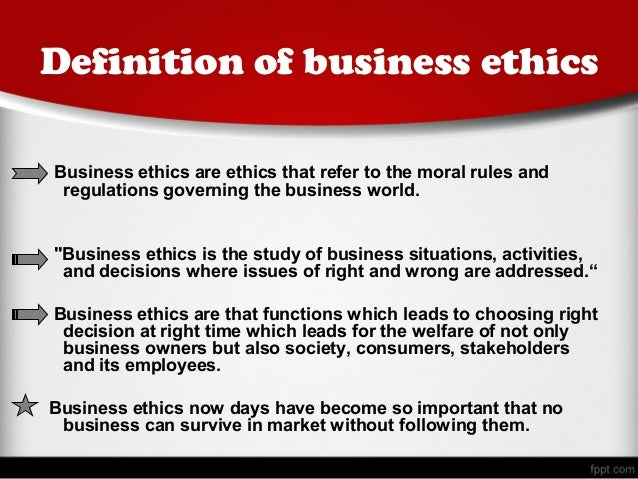 the importance of business ethics for all stakeholders in a business environment The importance of ethics in business recent that arise in a business environment it applies to all aspects importance business ethics are easily.