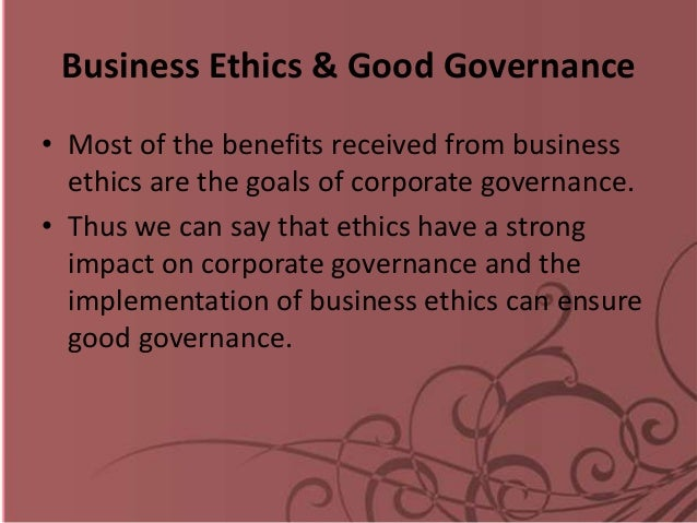 benefits of good governance The crucial factor in effective governance is where the decision-making authority lies, and how it is exercised.