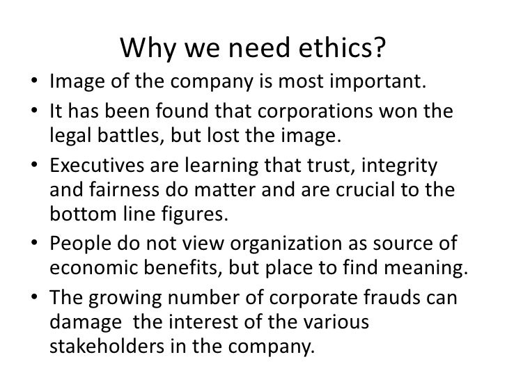 why are ethics important in the workplace