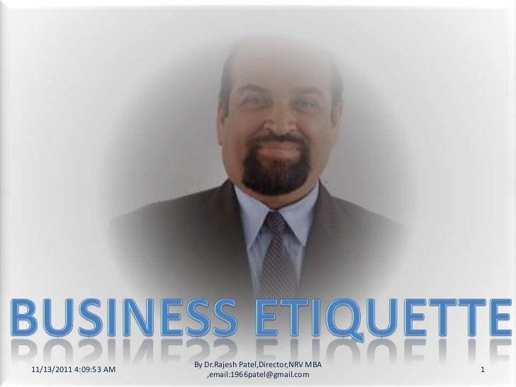 Business etiqette in mumbai