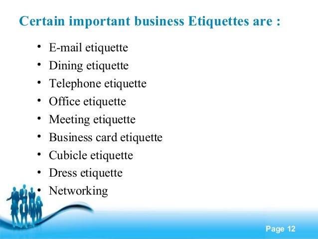 Office Manners And Etiquettes Etiquette Office Etiquette