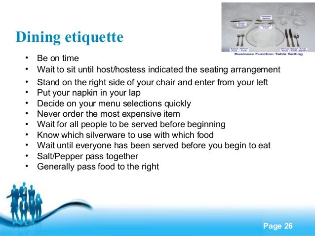 Business etiquette : business etiquette 26 638 from www.slideshare.net size 638 x 479 jpeg 76kB