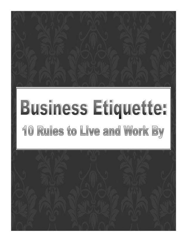 Business etiquette handout