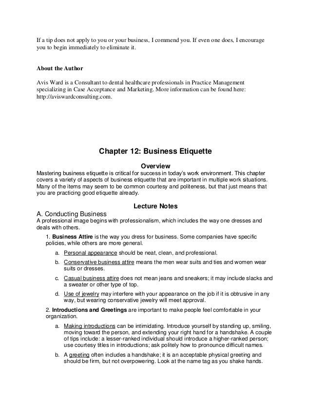 Essay On Business Etiquette  Essay Writing Samples Essay On Business Etiquette