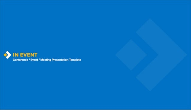 Business Event - Conference / Event / Meeting Presentation Template