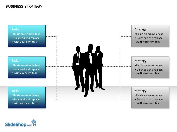 BUSINESS STRATEGY  Tasks                       Strategy  •This is an example text.   •This is an example text.  • Go ahead...