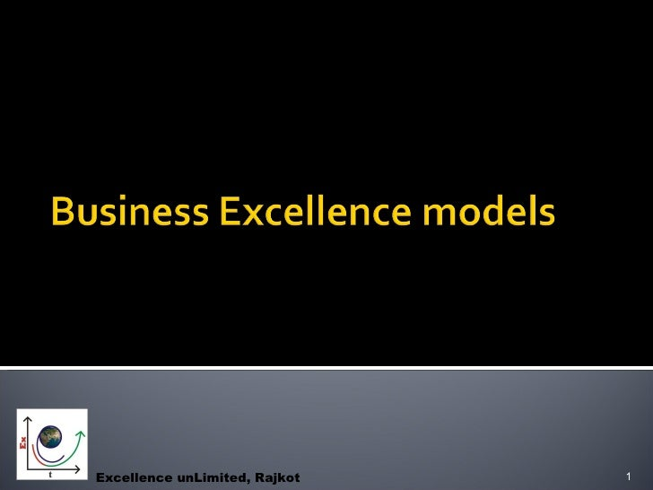 Business excellence award models