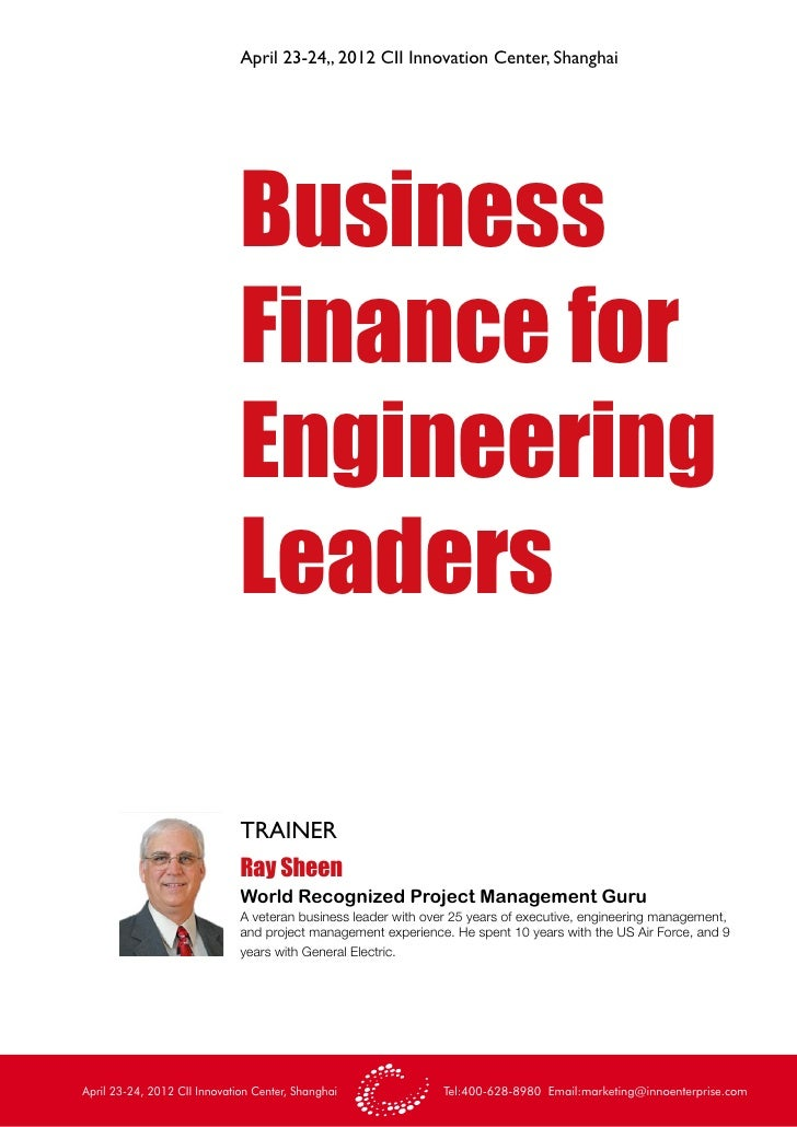 Business Finance For Engineering Leaders