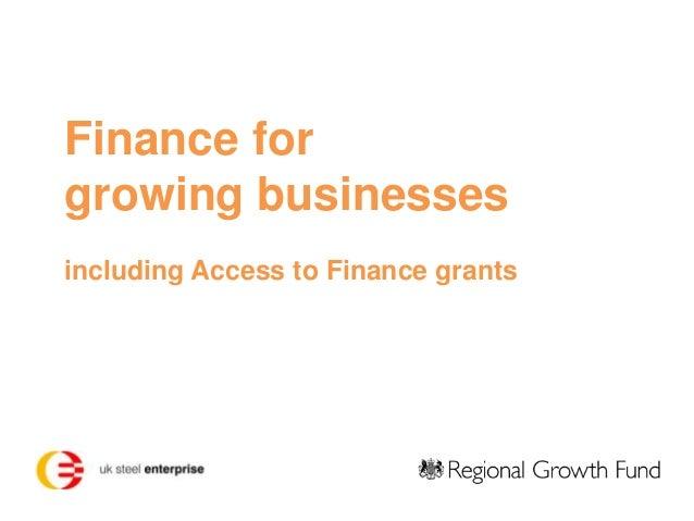 Business Finance Fund 2013