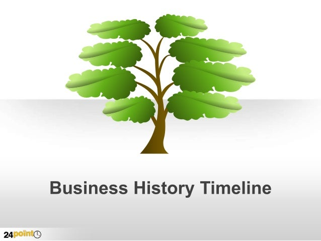 Business History Timeline - Editable PPT Slides