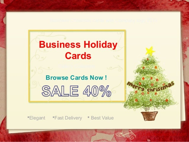 Business Christmas cards with Company logo 2013  Business Holiday Cards Gallery Collection  Browse Cards Now !  Elegant  ...