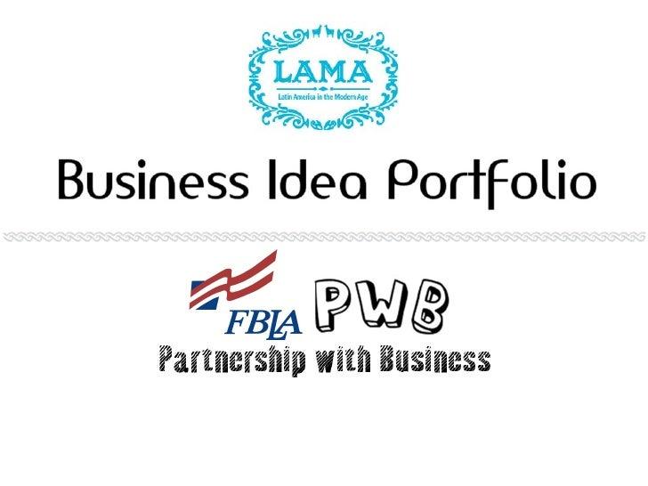 Business Idea Portfolio