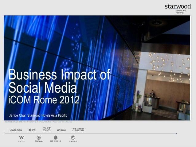 Business impact of social media i com rome 2012